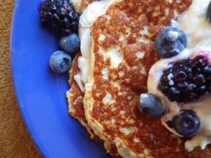 Cauliflower Shortcake Pancakes
