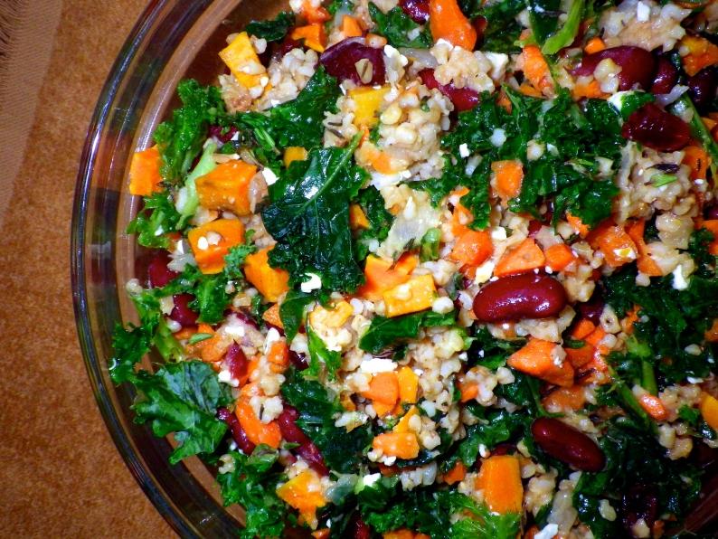 steel cut oat kale sweet potato salad