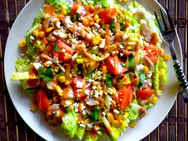 BBQ Chicken Quinoa Salad WIAW: Recipe